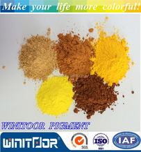 factory sell pure powder pigments red iron oxide and yellow ceramic powder for paver/cement/concrete