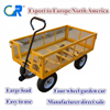 garden cart with four wheels and steel mesh TC1840