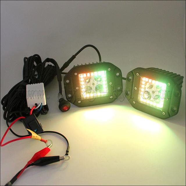 4 inch 12V 24V IP67 flush mount offroad cr ee 18w led work light pod lights