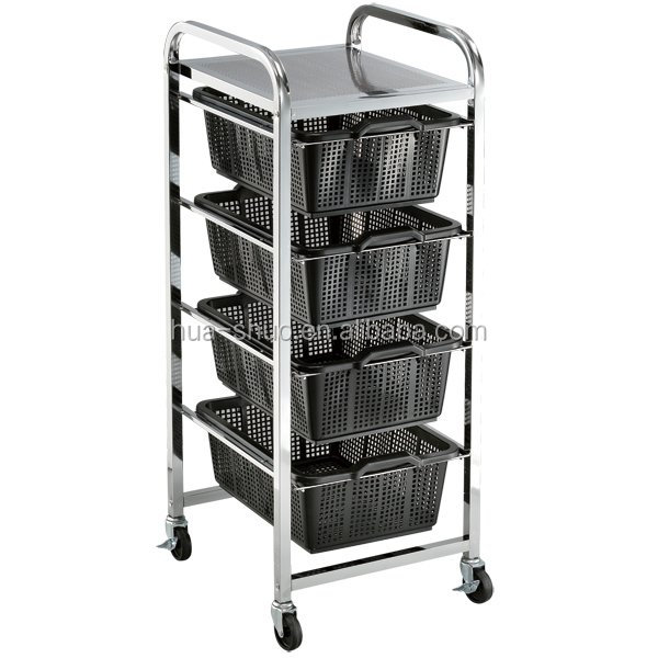 large size colorful utility hair salon trolleys