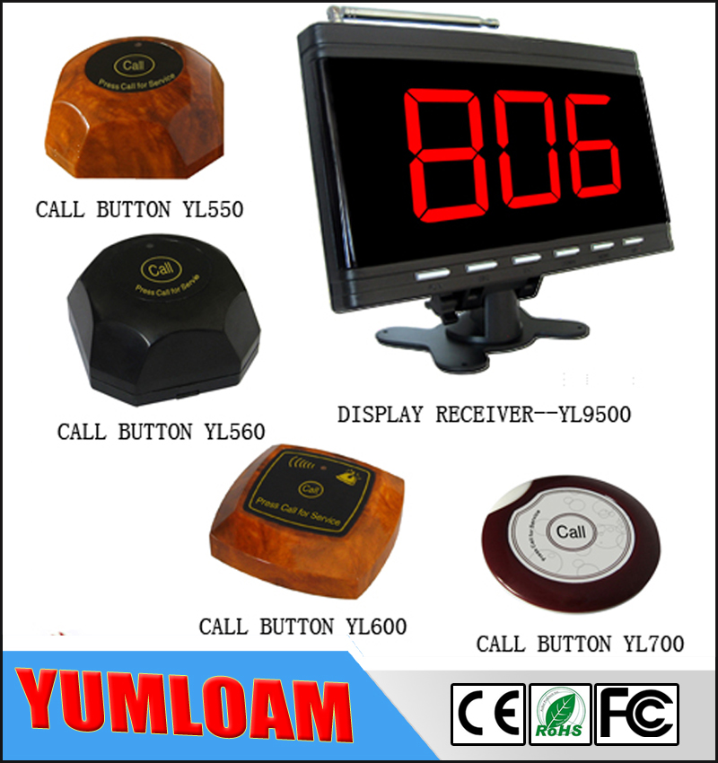 Wireless pager waiter call system for restaurant