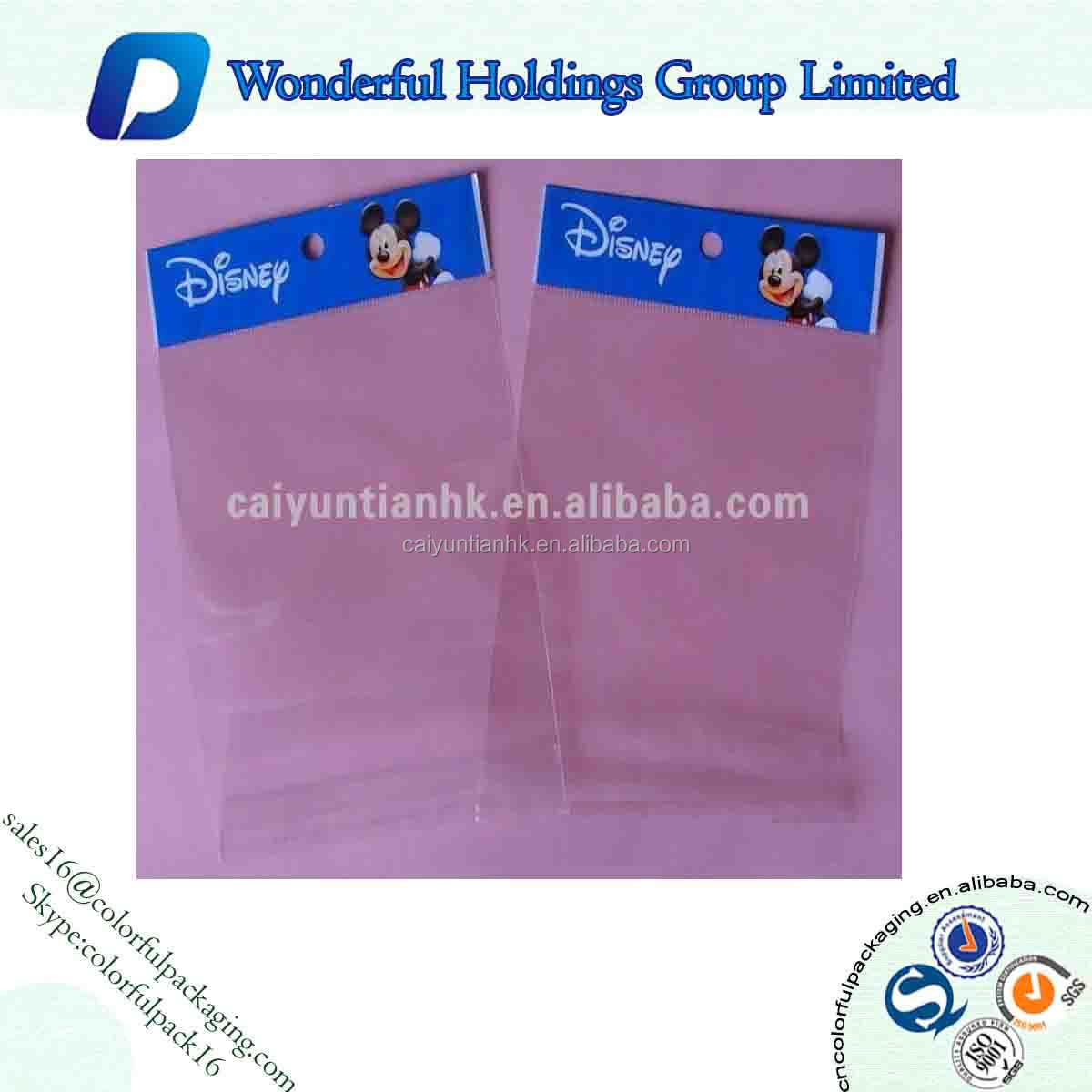 Empty packaging bag/Heat seal bag with hole for hang/Plastic bag
