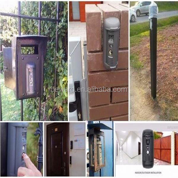 Intercom and Camera combine for apartment security with vandal-proof and water-proof solar powered vending machine
