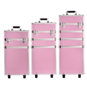 New Fashion hot sale makeup case travel professional jewelry trolley cases
