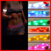 LED Flashing Wrist Band Bracelet Arm Band Belt Light Up Dance Party Glow