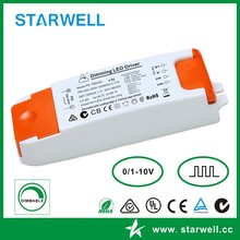 PE18AA70 33-70V 250ma 18W 1 - 10V dimmable led driver/ pwm dimming led power supply