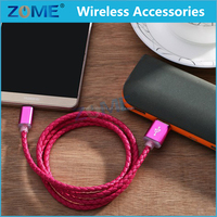 Premium Leather Braided USB 2.0 A Male to Micro B Data Sync & Charge Cable