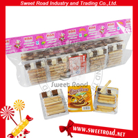 Bag Packaging Finger Biscuit Stick With Milk And Chocolate Jam
