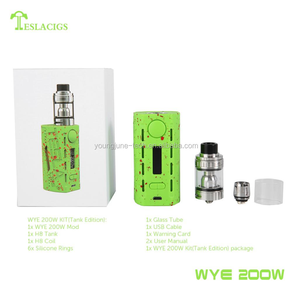 Tesla best hot selling product WYE 200W offer you perfect electronic smoking