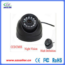 Mini CCD IR night vision dome camera for bus/taxi
