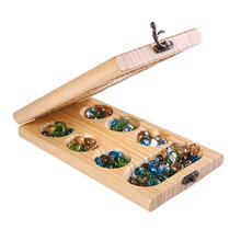 PlayMaty Wood Folding Intellectual Mancala Board Game