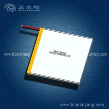 637075 rechargeable 4000mAh polymer lithium ion battery with pcm