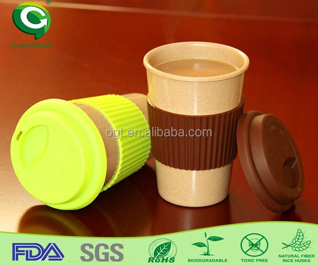 organic rice husk fiber airline coffee cup/cup for coffee