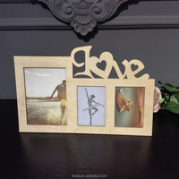 Laser cut love style wooden photo frame