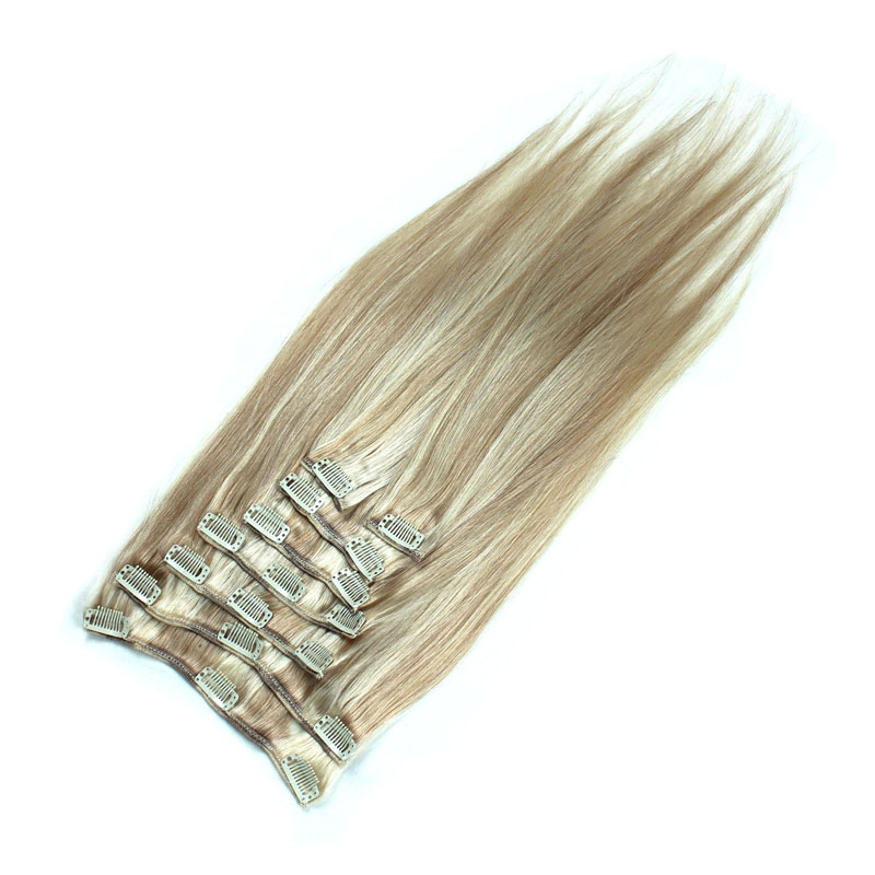 Abundant Stock two color piano color Remy hair Clip in hair extensions from one Donor