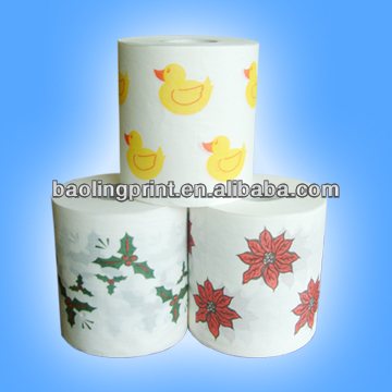 Custom Printed Toilet Paper roll