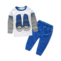 newest hot sale long sleeve cotton baby clothes fashion gentleman boys clothing 2 piece sets