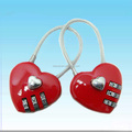 Lover's present ,heart shape cable lock,cable lock for phone
