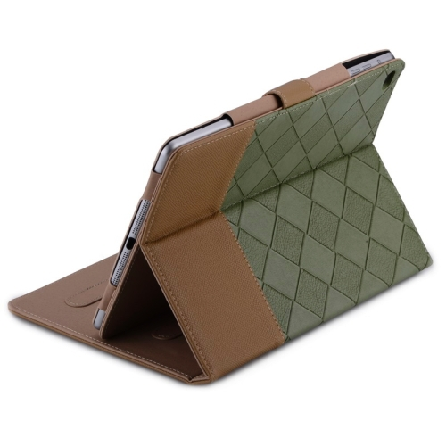 Contrast Color Smart Cover Leather Case with Holder for iPad Air 2