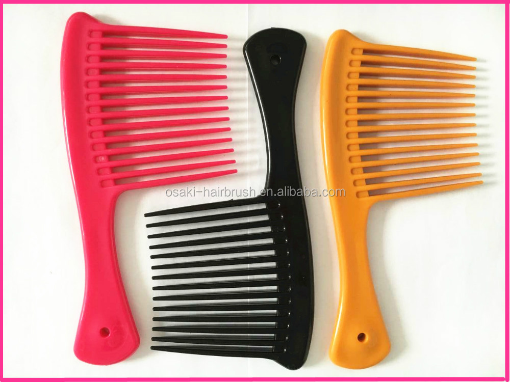 BSCI plastic avon unbreakable mens plastic hair straightener comb for barber shop with unique design