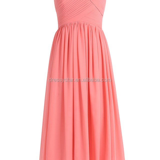 2017 Simple Design affordable tea-length chiffon bridesmaid dresses