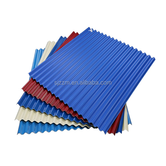 2014 new design white color coated house building roof tiles from factory