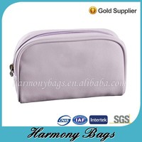Purple PVC leather lighted makeup case in Quanzhou factory