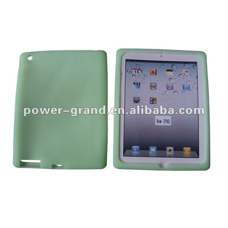 Glow in the dark silicone case for Apple New Ipad 3, reliable quality, competitive price (accept Paypal, Escrow)