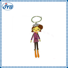 high quality soft pvc squeeze pop eyes sexy girl key chain