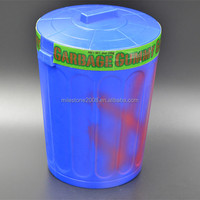 Garbage Bin design Food Grade Plastic Storage Display Container with Lid