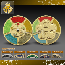 GEO Custom Challenge Coin in Feng Shui Style with Transparent Color