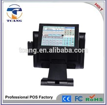 15''touch screen pos terminale con 10.4'' display cliente punto di vendita macchina
