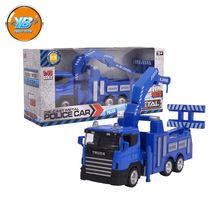 Yibao 1:32 scale kids police series blue free wheel diecast alloy metal toy truck