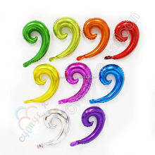 Wholesale latex free helium party balloons foil Spiral aquatic plants kurly wavy balloons