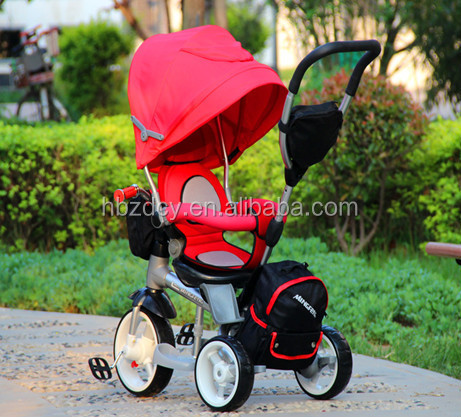 mutifunctional baby tricycle kids 12 inch wheel smart tricycle with rotated seat
