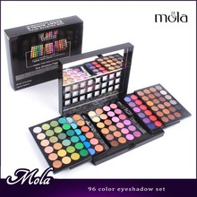 Professional 96 color 3 layer luxury eyeshadow palette with matte and glitter eye shadow