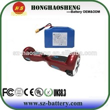 HHS manufacture 36V 4.4Ah lithium ion battery pack 10s2p for electric twisting car