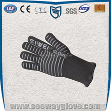 Seeway gray top-rated silicone extra long cuff oven gloves