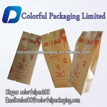 High quality brown mini kraft paper tea bag side gusset green tea packaging bag