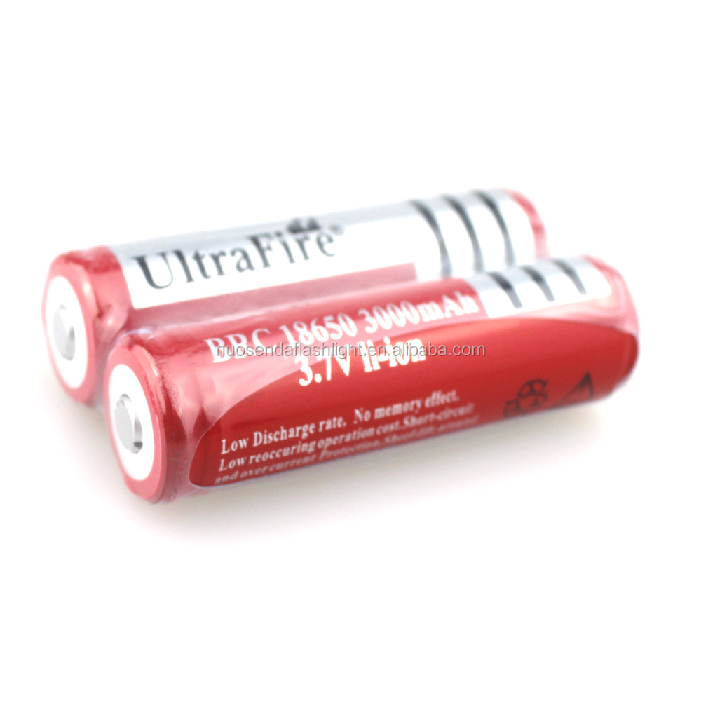 <strong>U</strong>-F BRC18650 3000mAh 3.7V Li-ion Rechargeable <strong>Battery</strong> with Protected PCB (<strong>1</strong> pair)