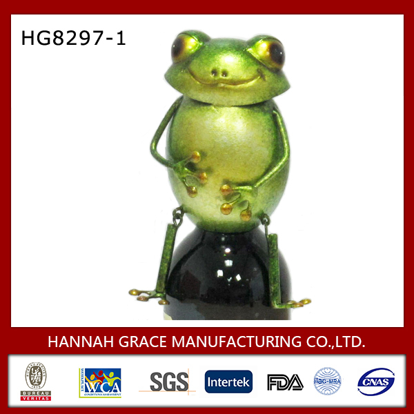 Spring Frog Metal Wine Cap For Home Decor