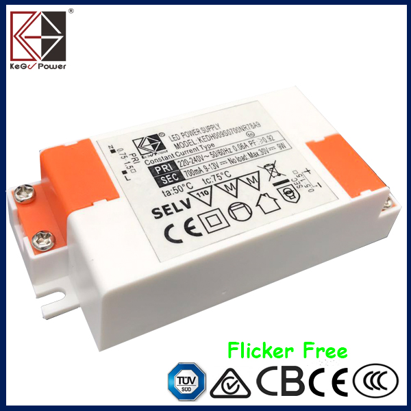 18W 700mA constant current flicker-free LED driver TUV SAA CE CB