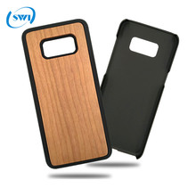 Wholesale Mobile Phone Accessories Plastic + Wood Case for Samsung S8,for Samsung S8 Bamboo Case