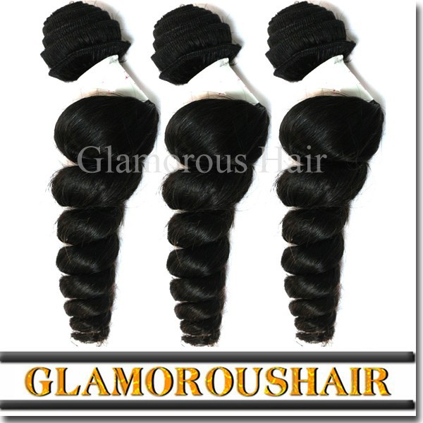 Wholesale cheap 6a loose wave 100 percent unprocessed raw remy virgin brazilian hair