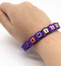fashion style handmade 2mm paracord bracelet with FAMILY word beads