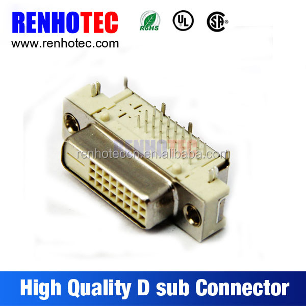 Produce in China VGA PCB Mount Straight Solder Negative Pole DVI Connector