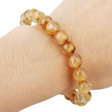 rutil quartz Bracelet Round natural Rutilated & for woman 8mm Length:Approx 7 Inch 1249919