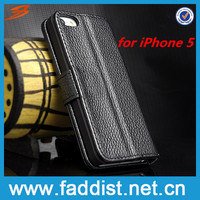 For iphone 5s case, for iphone 5s Luxury lychee Genuine leather case