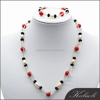 Sale red and black beaded jewelry seed hyderabad pearl set