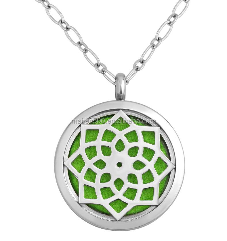 silver interchangeable magnetic pendant necklace